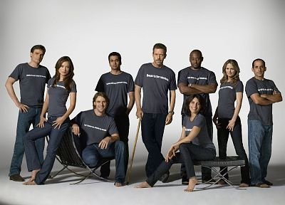 Olivia Wilde, Jennifer Morrison, Lisa Edelstein, Hugh Laurie, Omar Epps, Robert Sean Leonard, Jesse Spencer, House M.D., Peter Jacobson, Kal Penn - random desktop wallpaper