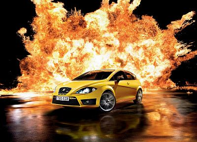 cars, explosions, Seat - related desktop wallpaper