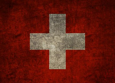 cross, red, grunge, flags, Switzerland - desktop wallpaper