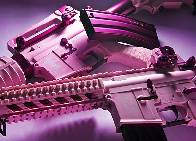 women, rifles, guns, pink, airsoft - random desktop wallpaper