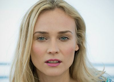 blondes, women, actress, Diane Kruger, faces, portraits - related desktop wallpaper