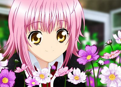 pink hair, Shugo Chara!, golden eyes, Hinamori Amu, anime girls - random desktop wallpaper