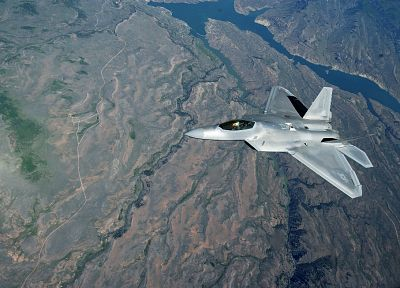 aircraft, military, F-22 Raptor, United States Air Force, vehicles, jet aircraft - random desktop wallpaper