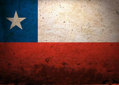 Chile, grunge, flags - random desktop wallpaper
