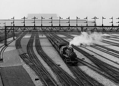 steam, trains, railroad tracks, vehicles, railroads - desktop wallpaper