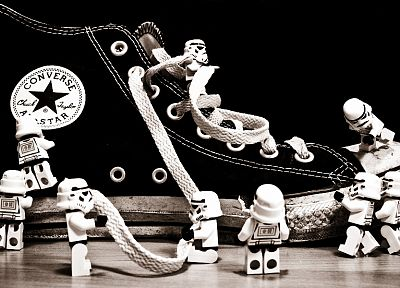 stormtroopers, shoes, Converse, Lego Star Wars, Legos - related desktop wallpaper