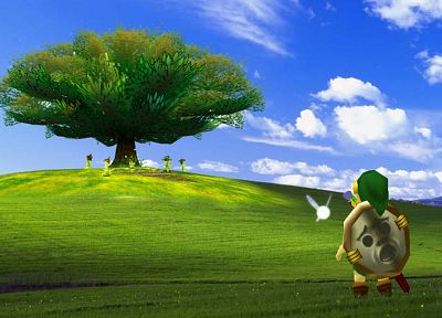 Link, Windows XP, The Legend of Zelda, Microsoft Windows, The Legend of Zelda: Ocarina of Time - desktop wallpaper