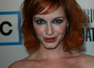 women, actress, redheads, Christina Hendricks - related desktop wallpaper