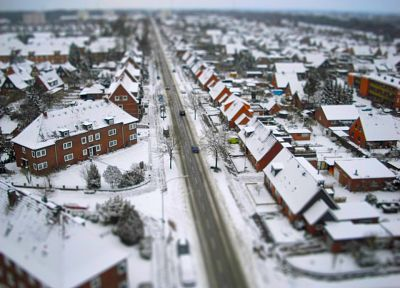 winter, cityscapes, buildings, tilt-shift - related desktop wallpaper