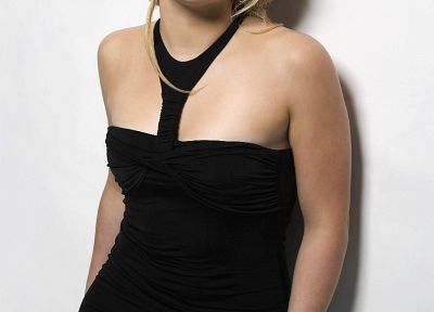 blondes, Hilary Duff, black dress - desktop wallpaper