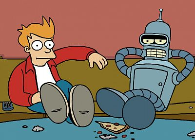 Futurama, Bender, artwork, Philip J. Fry - desktop wallpaper