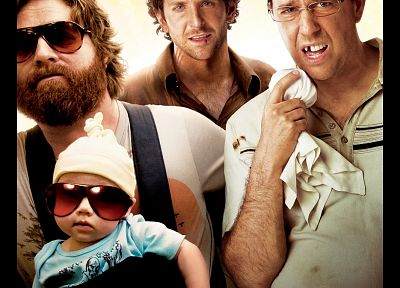 baby, Heather Graham, sunglasses, Zach Galifianakis, Bradley Cooper, movie posters, Ed Helms, The Hangover - desktop wallpaper