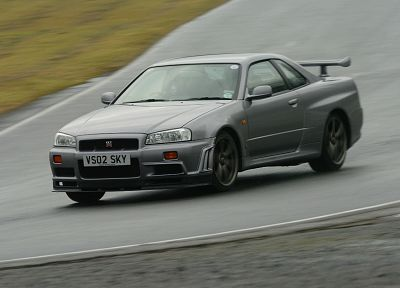 cars, gray, vehicles, track, Nissan Skyline, Nissan Skyline GT-R - desktop wallpaper