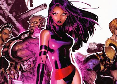 X-Men, Wolverine, Psylocke, Marvel Comics, Storm (comics character) - desktop wallpaper