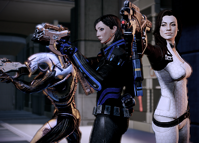 rifles, video games, pistols, legion, Mass Effect, Miranda Lawson, BioWare, Mass Effect 2, FemShep, Commander Shepard - desktop wallpaper