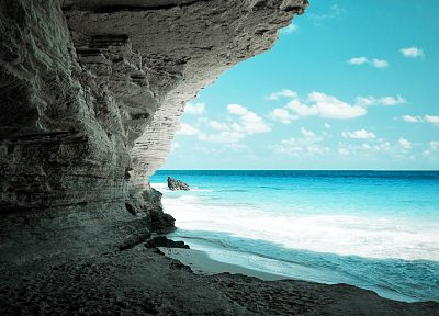 ocean, nature, caves, Egypt, beaches - desktop wallpaper