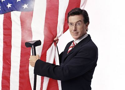 Stephen Colbert, American Flag - related desktop wallpaper