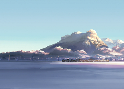 trains, Makoto Shinkai, 5 Centimeters Per Second, vehicles - related desktop wallpaper