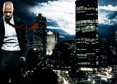 video games, cityscapes, Hitman, Agent 47 - random desktop wallpaper
