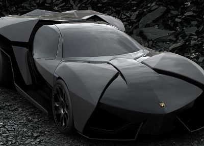 black, cars, Lamborghini, vehicles, black cars - desktop wallpaper