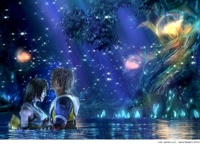 Final Fantasy, video games, Yuna, Tidus, Final Fantasy X - related desktop wallpaper