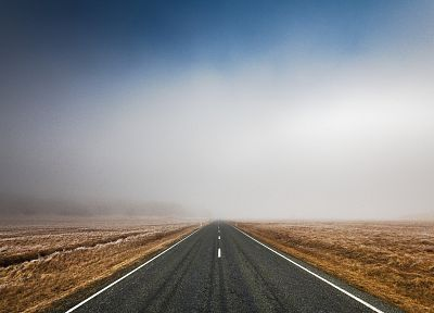 landscapes, mist, roads - random desktop wallpaper