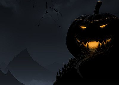 Halloween, holidays, Jack O Lantern, pumpkins - desktop wallpaper