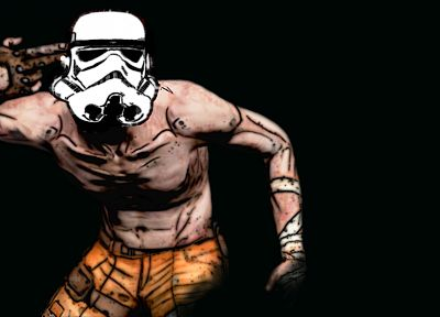 stormtroopers, Borderlands, black background - desktop wallpaper