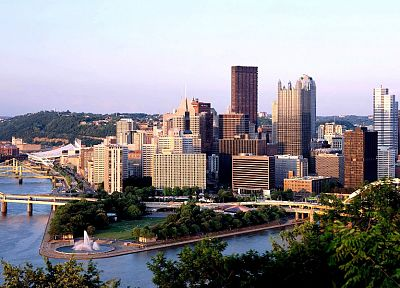 cityscapes, bridges, buildings, Pittsburgh - random desktop wallpaper