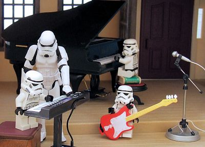 Star Wars, piano, stormtroopers, funny, Lego Star Wars, Legos - desktop wallpaper