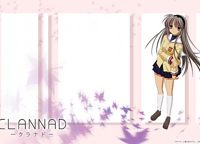 school uniforms, Clannad, Sakagami Tomoyo, knee socks - related desktop wallpaper
