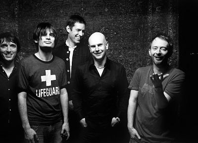Radiohead, grayscale, music bands, Danny Clinch - random desktop wallpaper