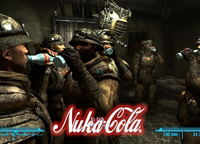 soldiers, video games, Fallout, enclave, Nuka Cola Quantum - related desktop wallpaper