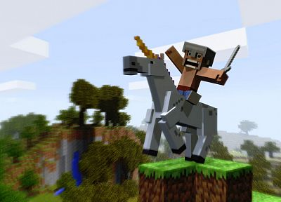 video games, unicorns, Minecraft - random desktop wallpaper