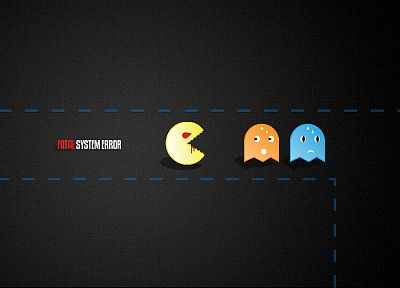 video games, Pac-Man - random desktop wallpaper