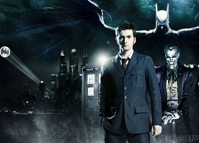 Batman, David Tennant, Doctor Who, Tenth Doctor - newest desktop wallpaper