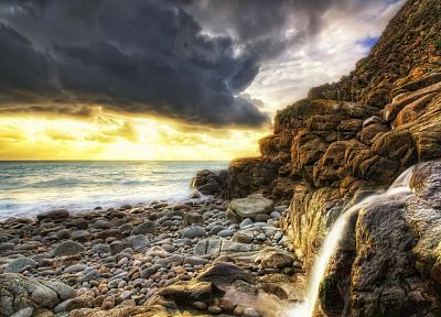 clouds, landscapes, nature, shore, skyscapes, beaches - related desktop wallpaper