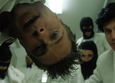 Fight Club, men, Brad Pitt, screenshots, Tyler Durden, actors - random desktop wallpaper