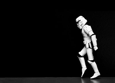 Star Wars, stormtroopers, moonwalk, black background - related desktop wallpaper