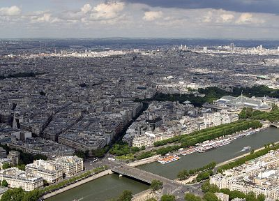 Paris, cityscapes, urban, buildings, Europe, panorama, Seine, cities - random desktop wallpaper
