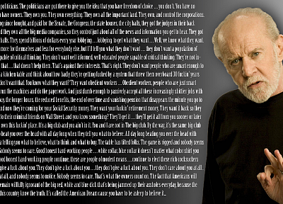 quotes, George Carlin - random desktop wallpaper