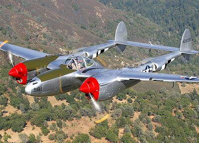 aircraft, military, P-38 Lightning - desktop wallpaper
