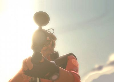 Sun, team, snipers, Team Fortress 2 - desktop wallpaper