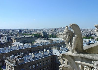 gargoyle, cathedrals - random desktop wallpaper