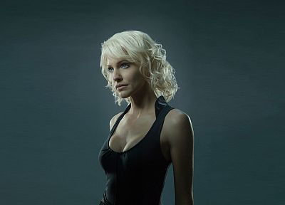 blondes, women, Battlestar Galactica, Tricia Helfer - desktop wallpaper