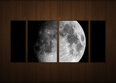 outer space, wood, Moon, textures, panels - desktop wallpaper