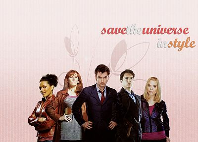 Rose Tyler, David Tennant, Billie Piper, Doctor Who, John Barrowman, Freema Agyeman, Catherine Tate, Martha Jones, Donna Noble, Tenth Doctor, Jack Harkness - desktop wallpaper