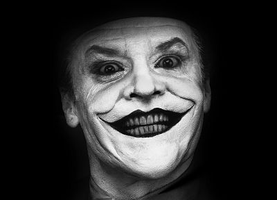The Joker, Jack Nicholson, monochrome - related desktop wallpaper