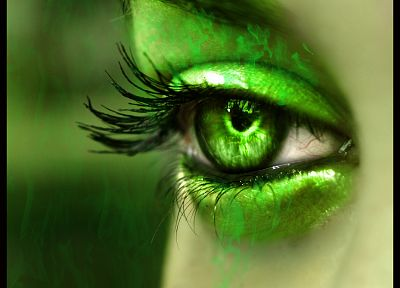 green, eyes, green eyes - desktop wallpaper