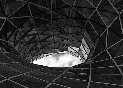abstract, tunnels, monochrome - related desktop wallpaper